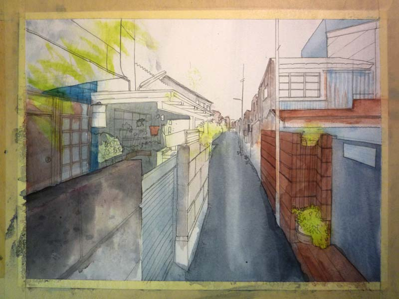 Tradi: Watercolor technics #4